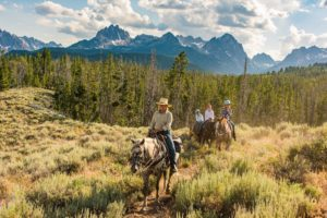 guided trail rides, horseback rides in Idaho,