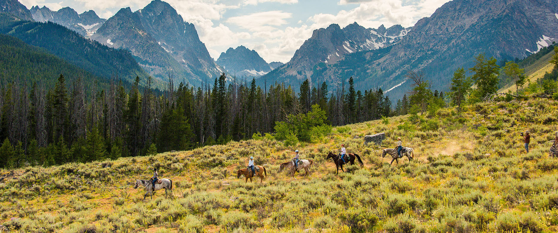 idaho Horseback riding Redfish Corrals